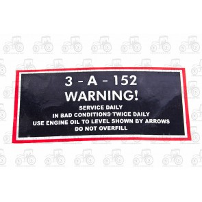 Decal MF 35 Servlce Label