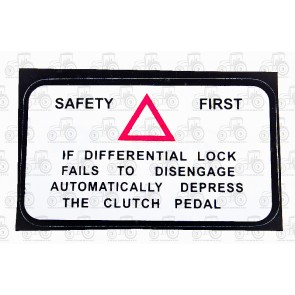Decal Diff Lock Safety