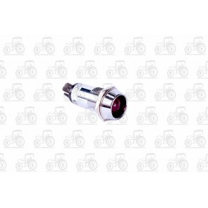Metal Warning Light Red 14mm Hole