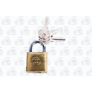 Tri Circle Brass Padlock 25mm