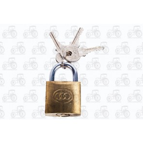 Tri Circle Brass Padlock 32mm
