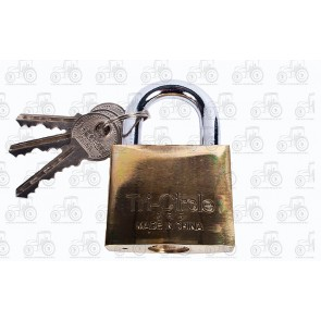 Tri Circle Brass Padlock 50mm