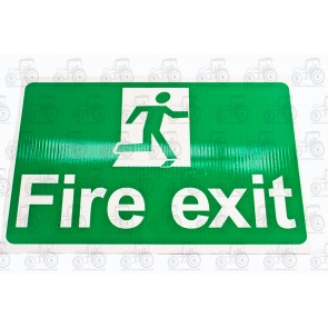 Sign:Fire Exit 450 X 300 mm - Plastic