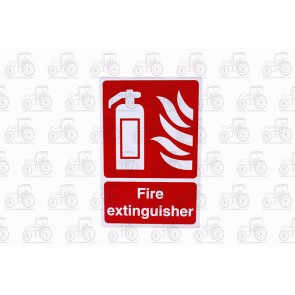 Sign: Fire Extinguisher 450 X 300 mm - Plastic