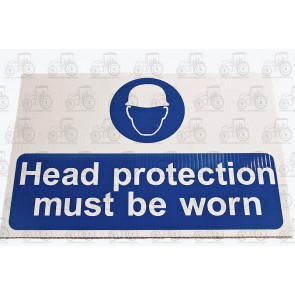 Sign:Head Protection 450 X 300 mm - Plastic
