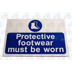 Sign: Protective Footwear 450 X 300 mm - Plastic