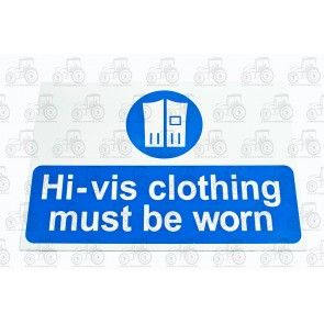 Sign:Hi-Vis Clothing 450 X 300 mm - Plastic
