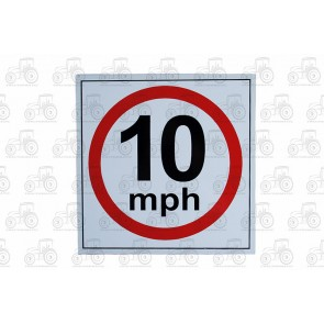 Sign: Speed Limit 10Mhp 310 X 310 mm - Aluminium