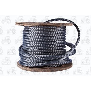 Wire Rope Galvanized - 8 mm - Sold Per Metre