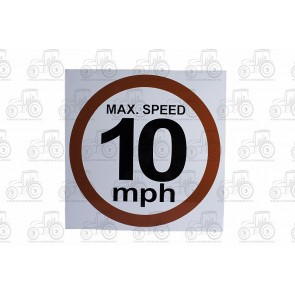 Sign: Max Speed 10 Mph 480 X 480 mm - Aluminium