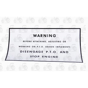 Decal Warning For Pto On Mudguard
