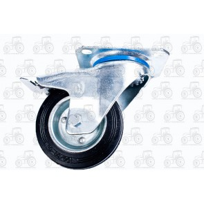 Castor Rubber With Brake 4 Inch