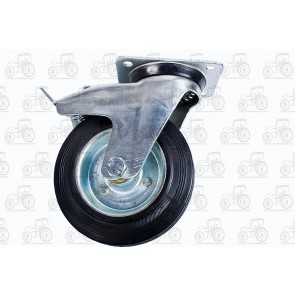 Castor Rubber With Brake 6 Inch