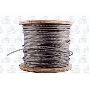 Wire Rope Stainless Steel 6mm - Sold Per Metre
