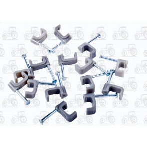 Cable Clip 10mm Grey (100)
