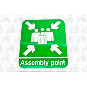 Sign: Fire Assembly Point 450 X 300 mm - Plastic