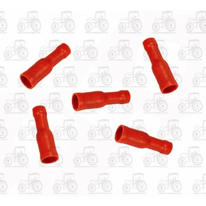 Red Female Bullet Terminal 4mm