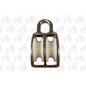 30mm Plated Double Awning Pulley